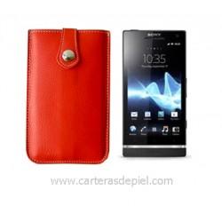 Funda de Móvil en Piel Sony Xperia S